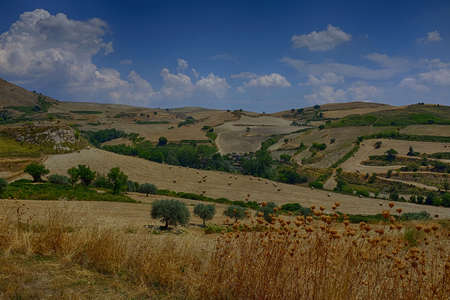 acreide: Sicilian Landscape Palazzolo Acreide Sr Stock Photo