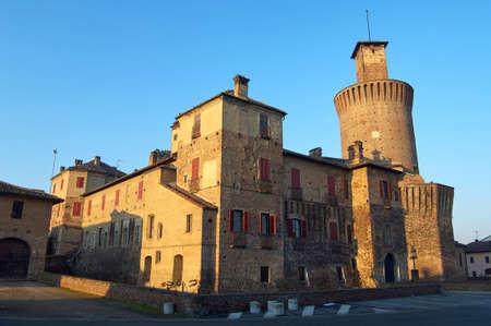 pv: Visconti Castle Sartirana Lomellina PV