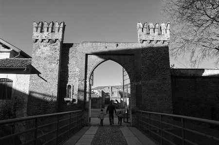 Entrance Fortress Old Castle of Vigevano PV in 1345
