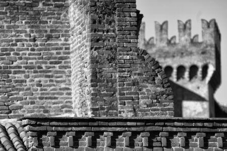 strives: Rocca Old Castle of Vigevano PV