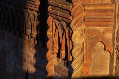 friezes: Decorations and friezes in Vigevano Castle