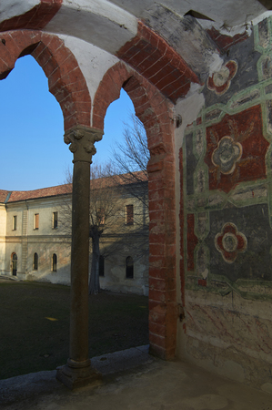existed: Frescoes Vigevano Castle fifteenth Century Editorial