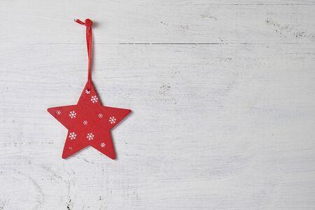 star: Star Christmas red wood