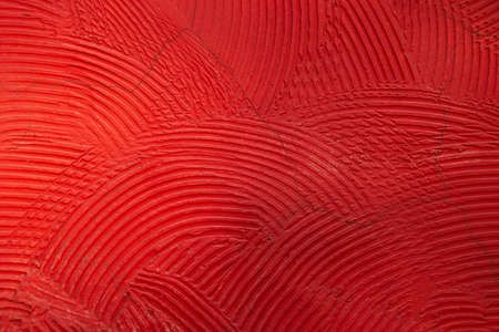 circle texture background covered red paint wall Banco de Imagens