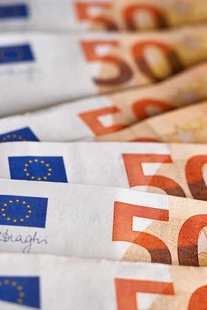 50 euro bills euro banknotes money close up