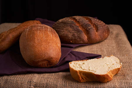 breads concept of teasty home food close up Banque d'images