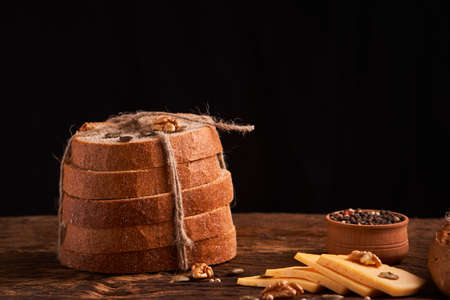breads concept of teasty home food close up Stock Photo