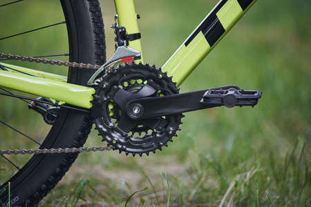 pedal bike on a green background