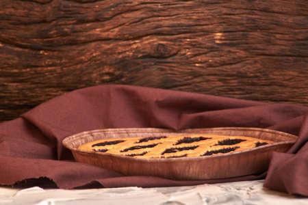 delicious blueberry pie. nutritious home baking. Blueberry pie