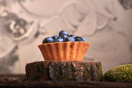 delicious home baking. homemade sweet cakes with blueberry berries Stock fotó