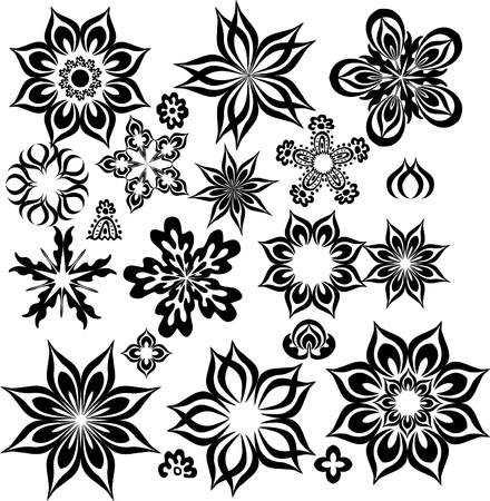 abstract flowers for design Vector