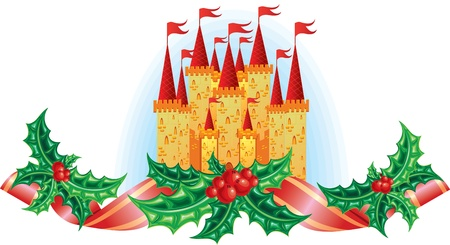 nucracker christmas castle Vector