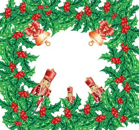 nutcracker: christmas wreath frame