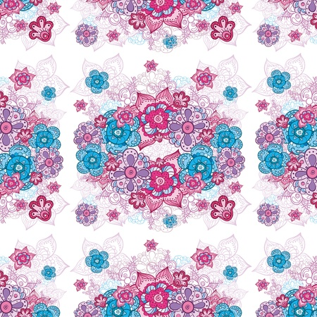 colorful floral doodle background texture Stock Vector - 16179114