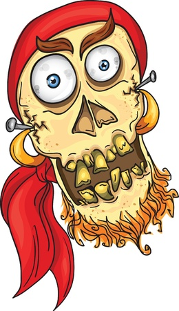 deadman: crazy pirate skull