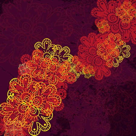 indian henna style background Stock Vector - 17314096