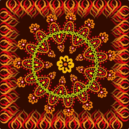 naive: indian style background with floral ethnic element