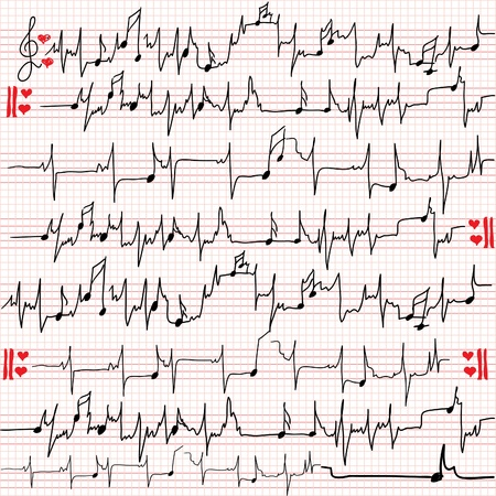 heartbeat of love Vector
