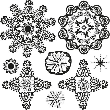 mendi: indian style ornamental floral shapes and patterns