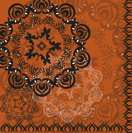 mendi: ornamental indian style floral background