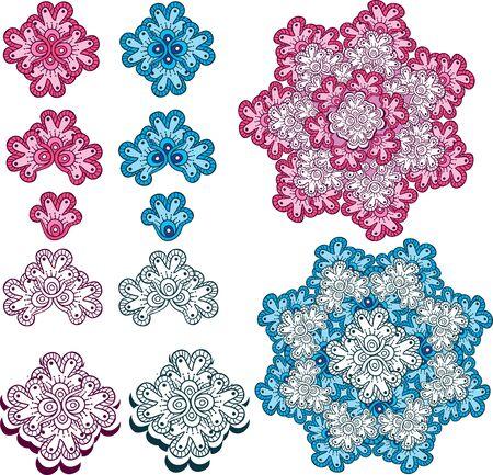 mendi: ornamental pattern Illustration