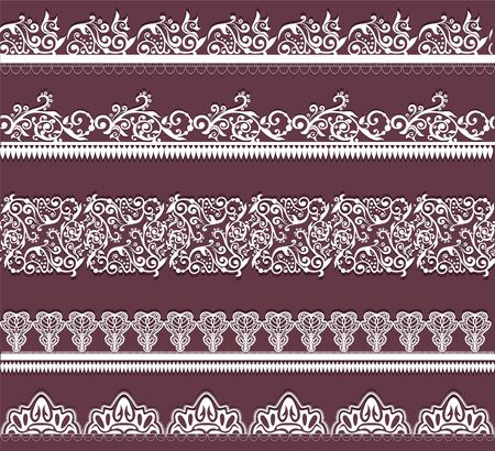 ornamentation: white lace