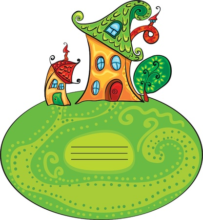 funny fairy houses Vector