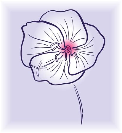 outline flower: outline flower pattern design element