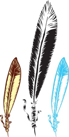 indian feather silhouette ethnic design Vector