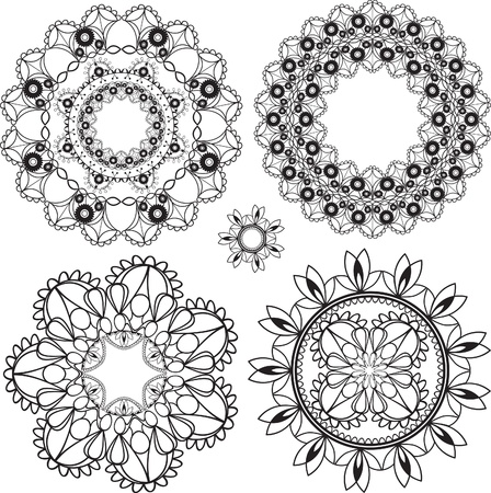 ornamentations: delicate lacy round patterns