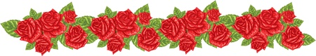 red roses border pattern Vector