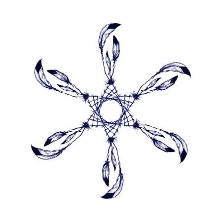 dream: 薩滿教的美國本地人符號追夢像 向量圖像