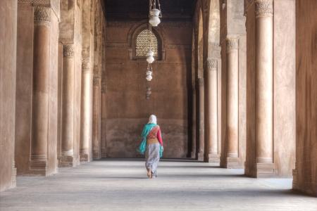ibn: The Pillars of Ibn Tulun Mosque Stock Photo
