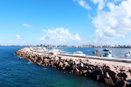 alexandria egypt: Seashore in Alexandria