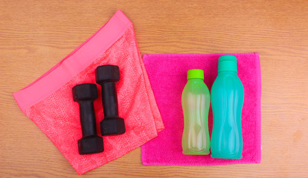 gym clothes: Gym Gear, gym clothes and sports wear kit for working out Editorial