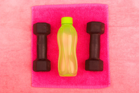 gym clothes: Gym Gear, gym clothes and sports wear kit for working out Stock Photo