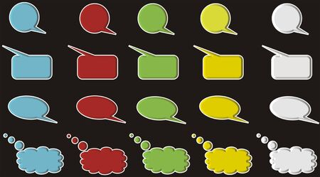 chat balloons Stock fotó