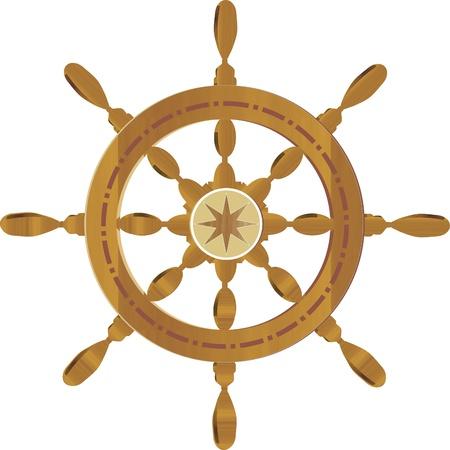 boat wheel Banque d'images