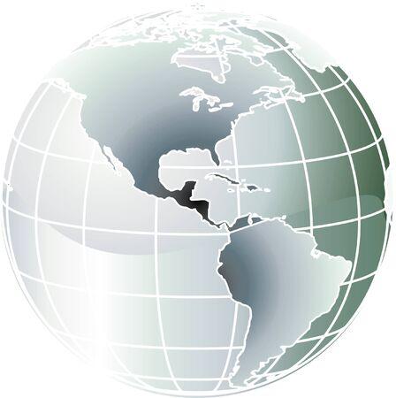 earth logo: globe