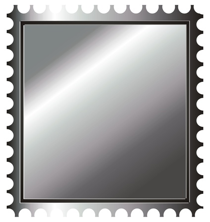silver stamp Stock Photo