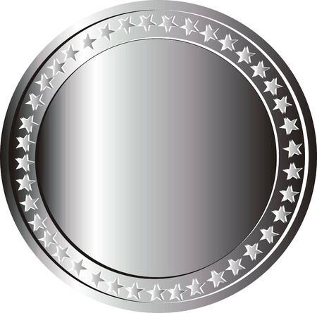silver coin plate