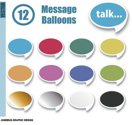 talk balloons Illusztráció
