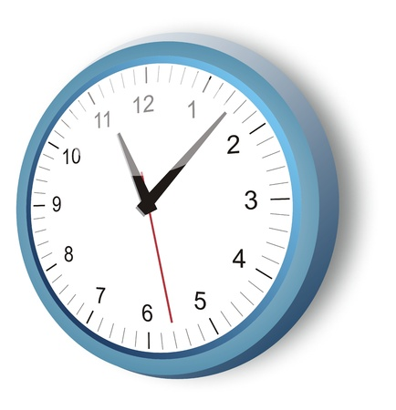 blue clock Illustration