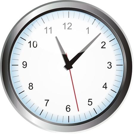 silver clock Stok Fotoğraf - 12488122