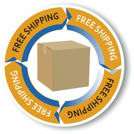 free shipping Stock Vector - 12488127