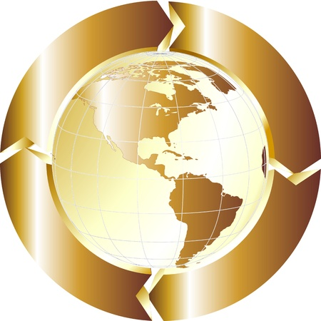 gold globe Stock Photo - 12579069