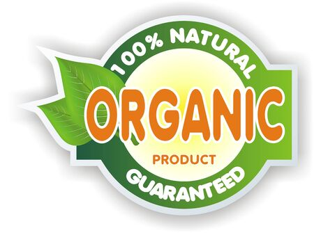 eco notice: organic sign Stock Photo