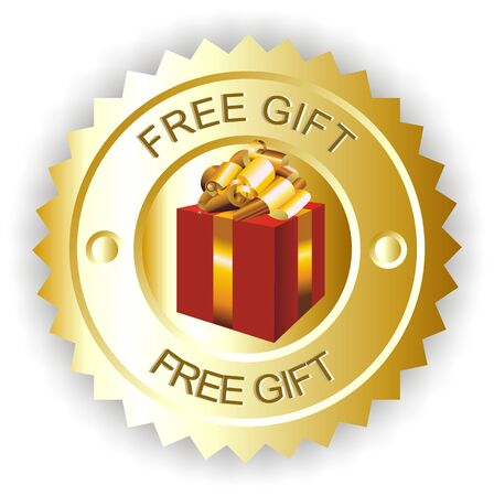 bonus: free gift Stock Photo