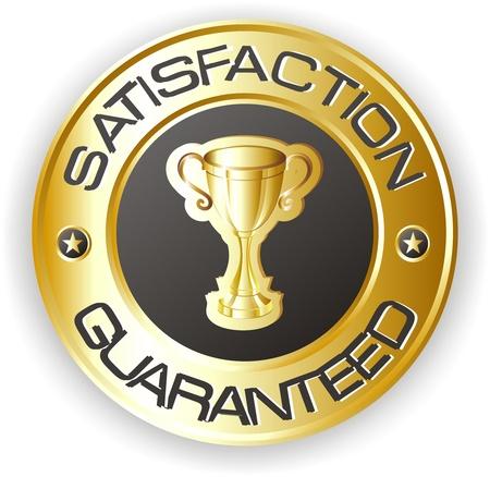 control de calidad: la satisfacci�n de oro con detalles en negro
