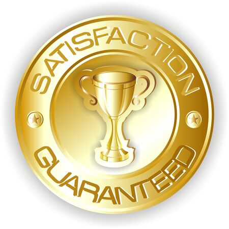 satisfaction gold sign